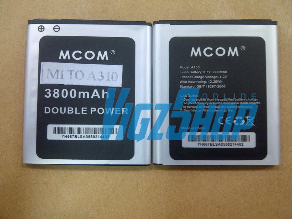 Jual Baterai Battery Mito A310 3800mAh MCOM Double Power