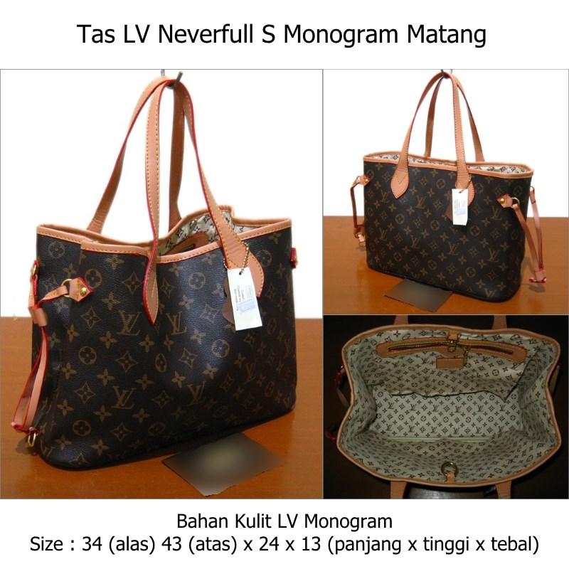 Jual Tas LV Neverfull S Matang (KW 1) - Riebex Bag.Shop  9fdc0f6b96