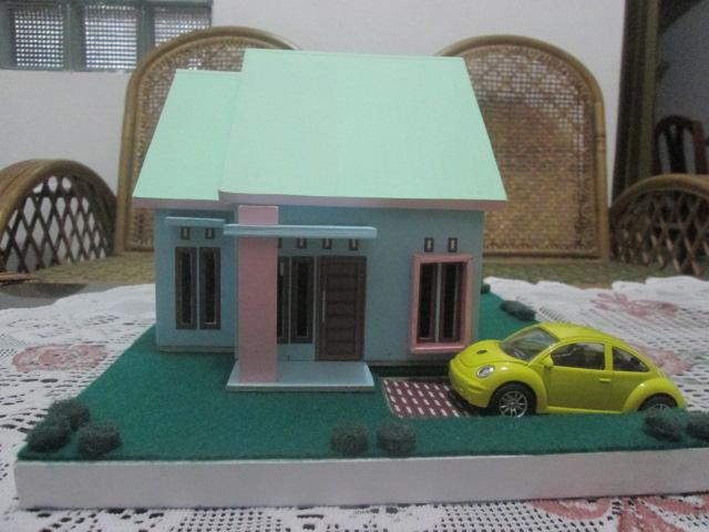 harga miniatur rumah minimalis Tokopedia.com