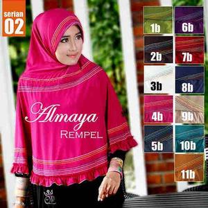Hijab Bergo instant Almaya / Kerudung Murah / Jilbab Murah