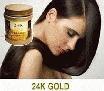 masker rambut emas 24k Gold Hair Mask murah untuk rambut kering rusak