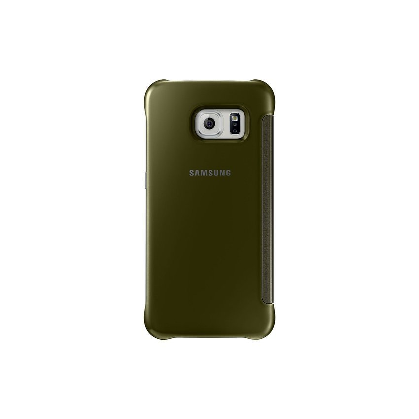 Samsung Clear View Window Flip Cover Samsung Galaxy S6 Edge - GOLD