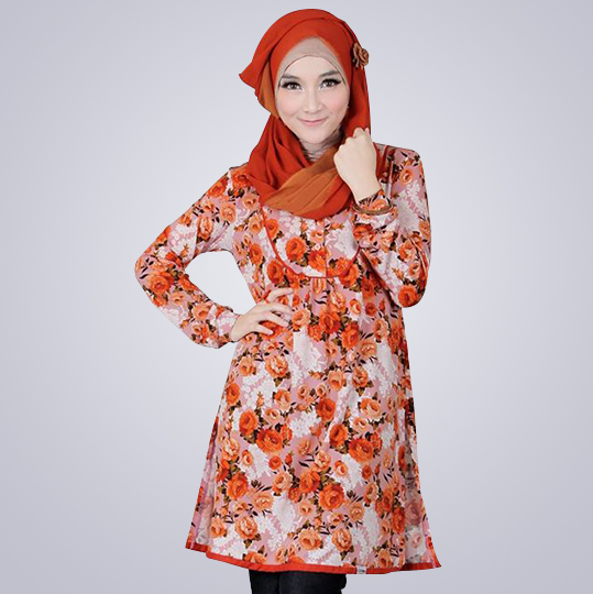 Spanza - Blus Jersey katun paris - Jual Hijab & Busana Muslim Online