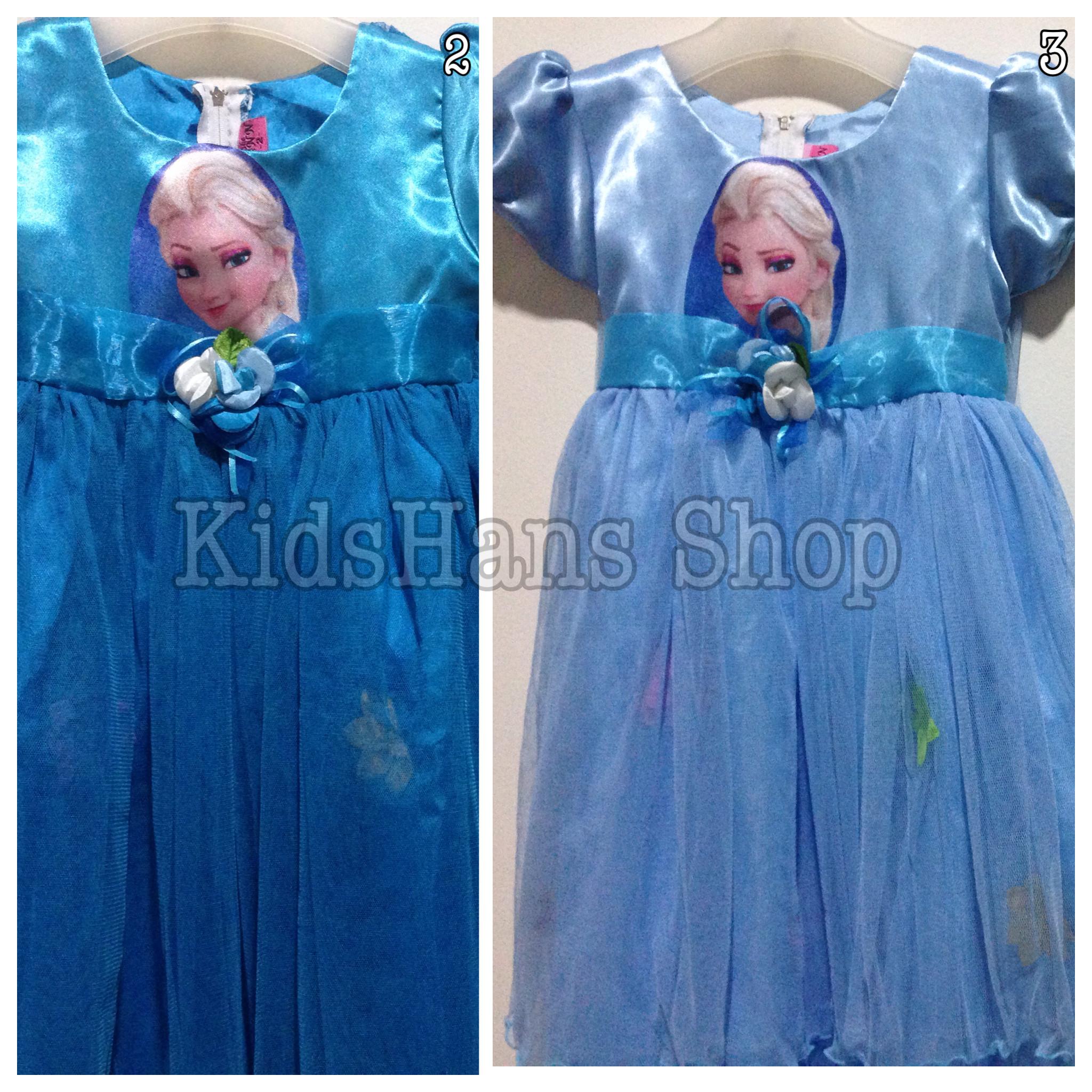 Harga Dress Gaun Baju Pesta Anak Putri Motif Frozen