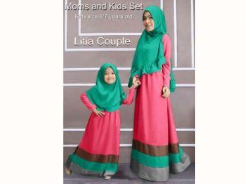 Jual Gamis Busana Muslim Couple Ibu Dan Anak Kc180
