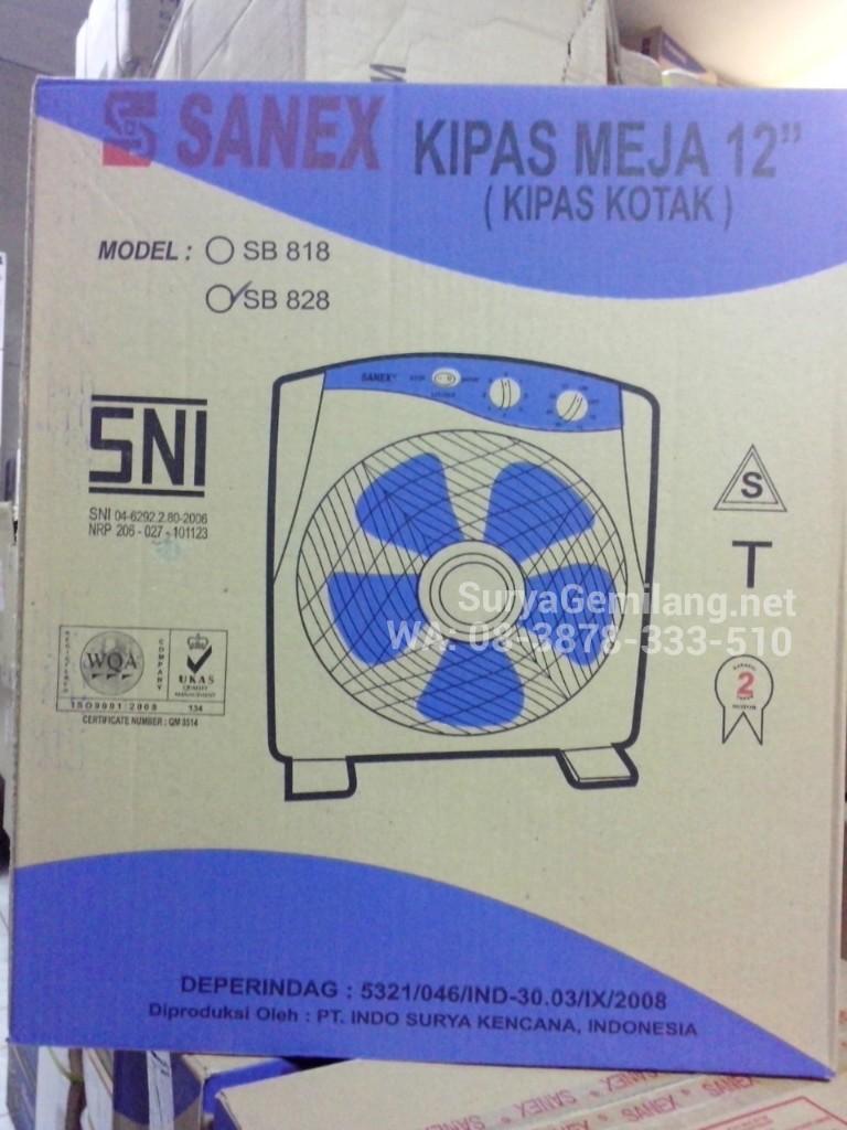 Jual box fan sanex sb828 ukuran 12 inch asli dan baru for Ukuran box salon 8 inch