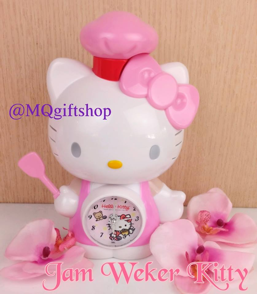 Jual JAM WEKER HELLO KITTY IMPORT