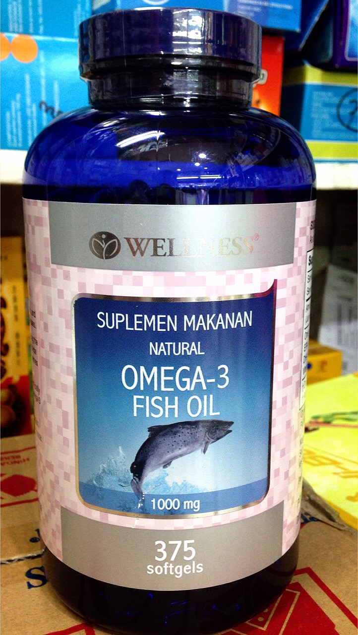 harga WELLNESS Omega-3 Fish Oil 375 Tablet Tokopedia.com