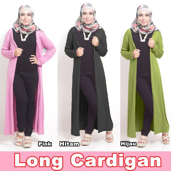 Hijab Fashion Murah : Long CArdigan