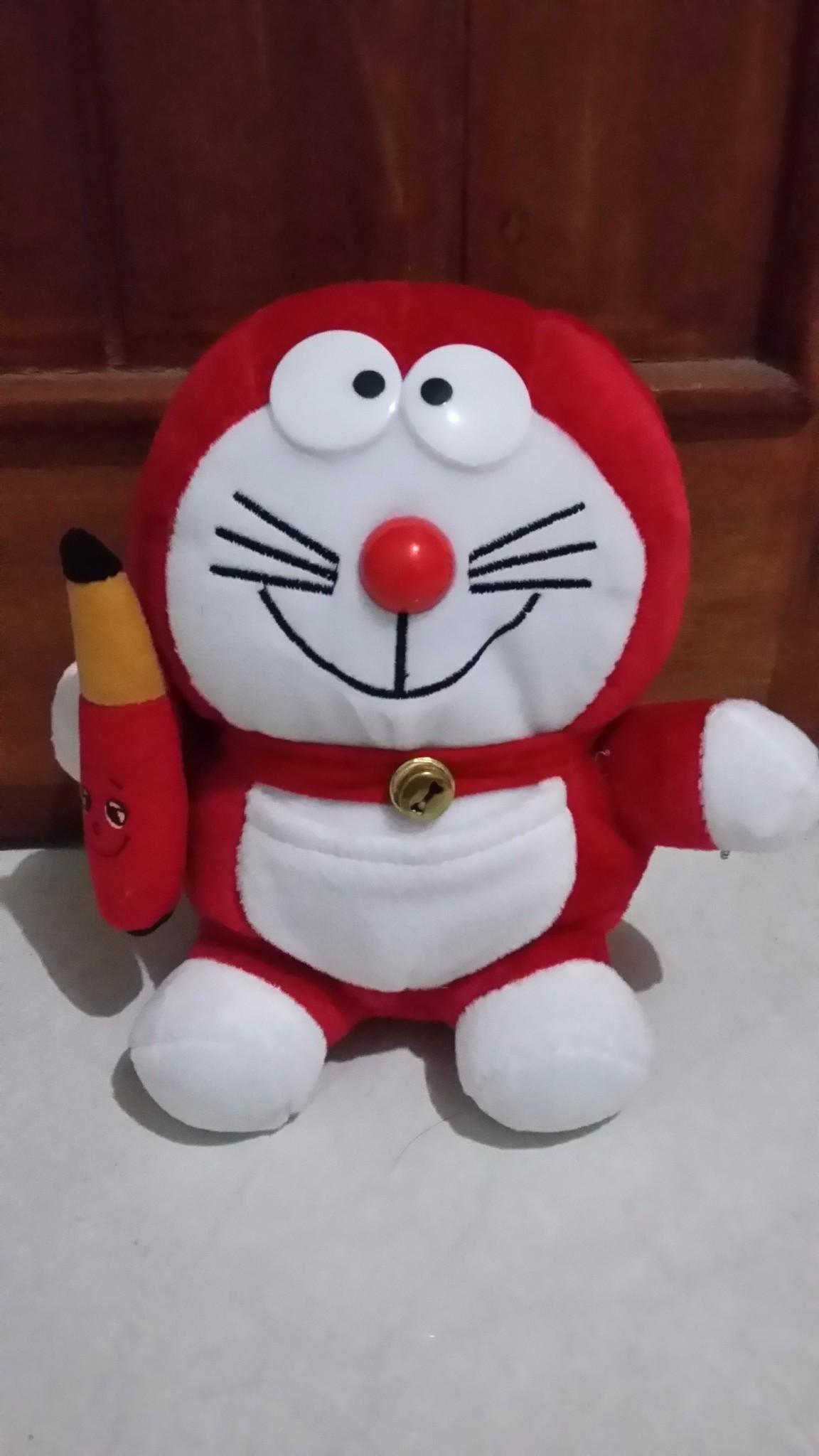 Jual Boneka Doraemon Warna Merah Acha Bookstore Tokopedia Maainan Doraemoon Kyutt