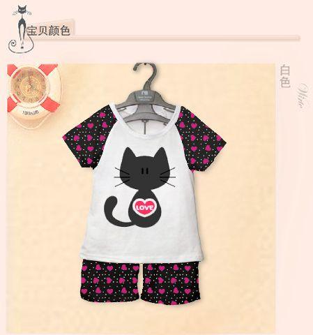 STKDK121 - Setelan Anak Kecil Kitty Black Love Murah