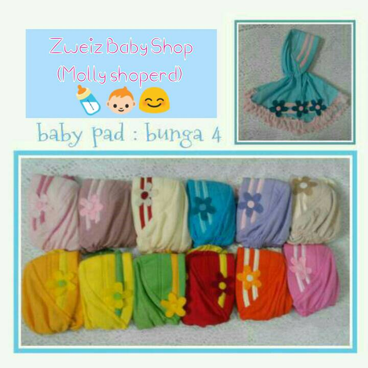 kerudung hijab baby baby pad bunga 4