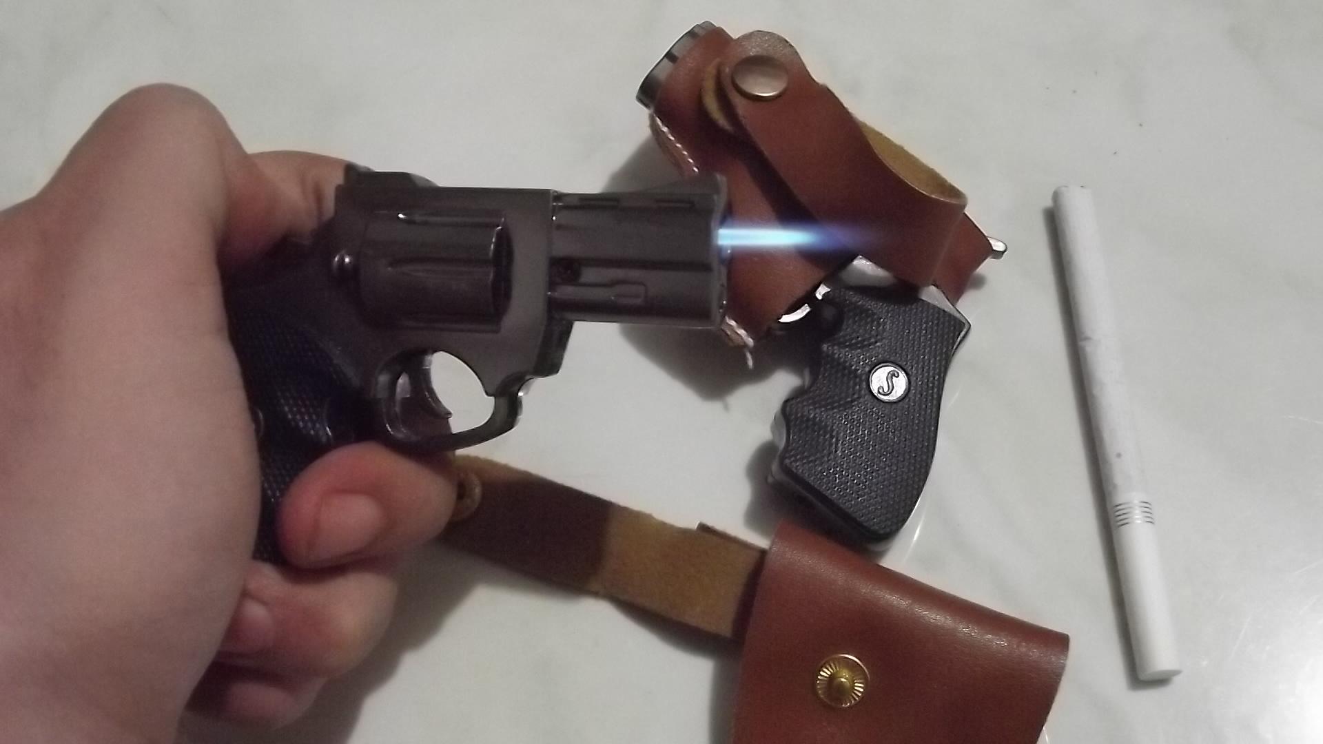 Jual Korek Api Model Pistol Phyton Revolver Mini Sarung Led Iphone 6 Linshopz Tokopedia