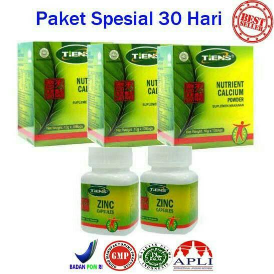 harga Peninggi Badan Alami Tiens NHCP + ZINC paket 30 hari Tokopedia.com