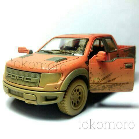 Diecast miniatur mobil ford raptor lumpur pick up bak terbuka tokomoro