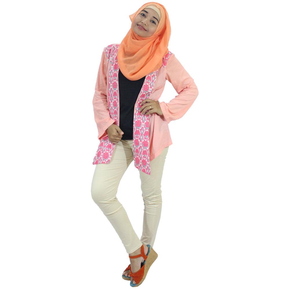 Berryblues Blouse Menyusui - BLM14 Peach / Baju Menyusui / Hijab Dress
