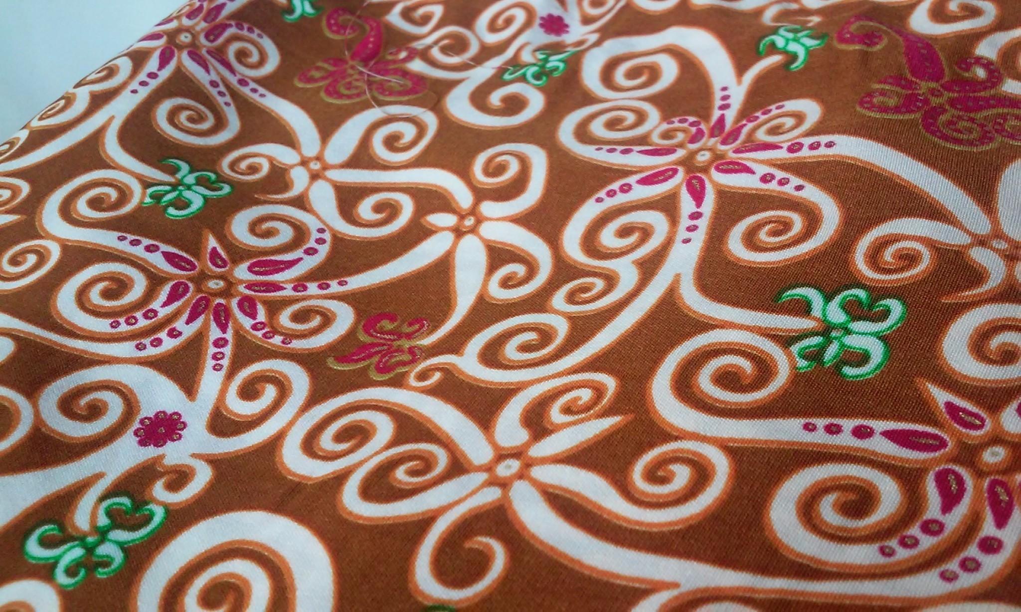 Jual Kain Batik Corak Flora Kalimantan Timur  lionchic shop