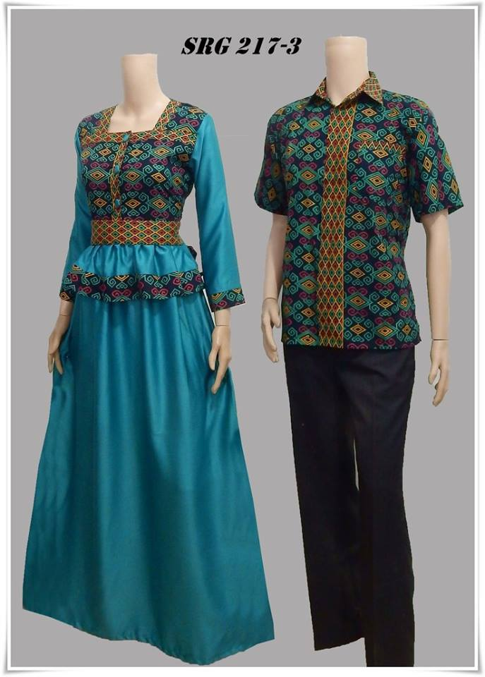 Model Baju Batik Couple Gamis Modern Terbaru Trend Fashion