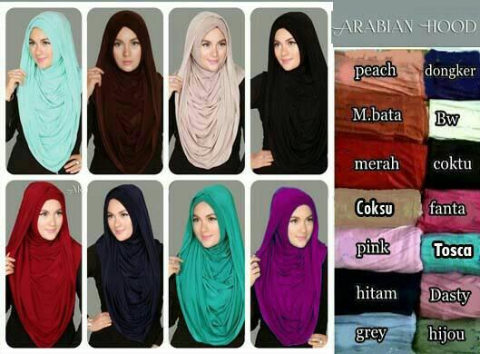 Hijab instan arabian hoodie