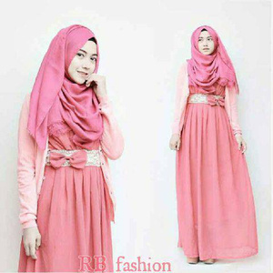dress muslim setelan hijab