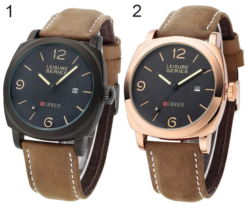 ORIGINAL Curren 8158 Leisure Time Casual Style Watch Jam Tangan Kasual