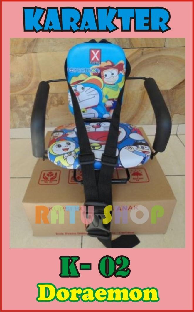 ( Matic Karakter ) Kursi Boncengan Anak Motor Kartun Doraemon