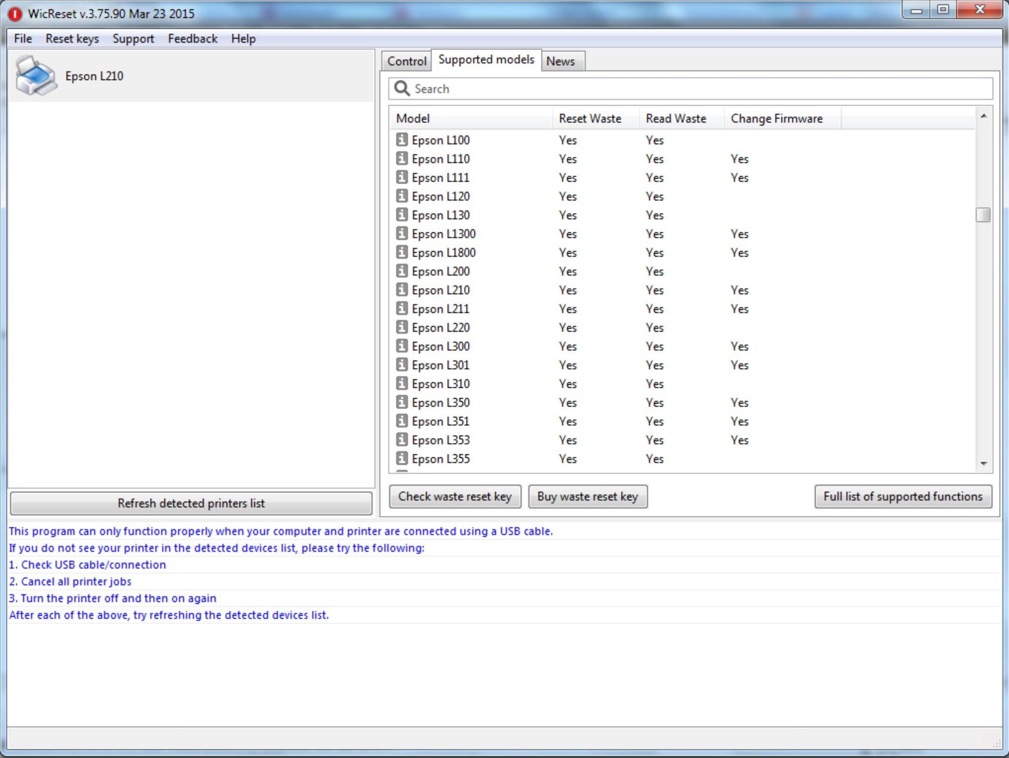 Epson l120 printer resetter free download