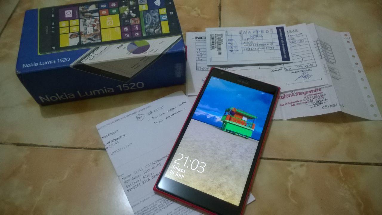 Nokia Lumia 1520 Red Garansi Resmi Panjang