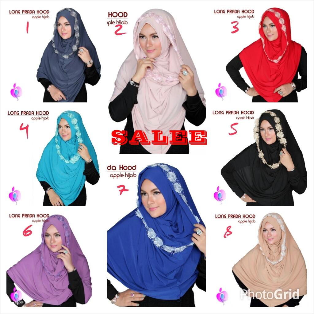 Jilbab Long Prada Hood by Apple Hijab