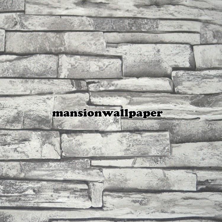 jual wallpaper dinding motif batu bata alam 3d tipe 2