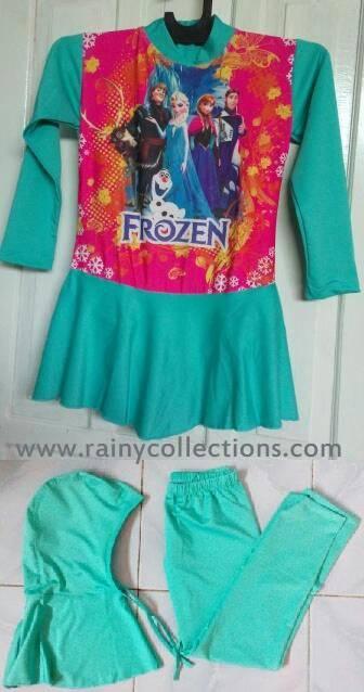 Jual Baju Renang Anak Muslim Karakter Frozen Rainy