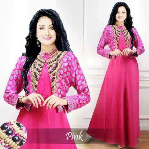 Jual Hyd370 Glowing Maxi Payet Jodha Akbar Seri Pink Baju