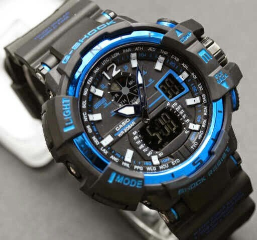 G SHOCK GWA 1100 / GWA1100 BLACK LIST BLUE