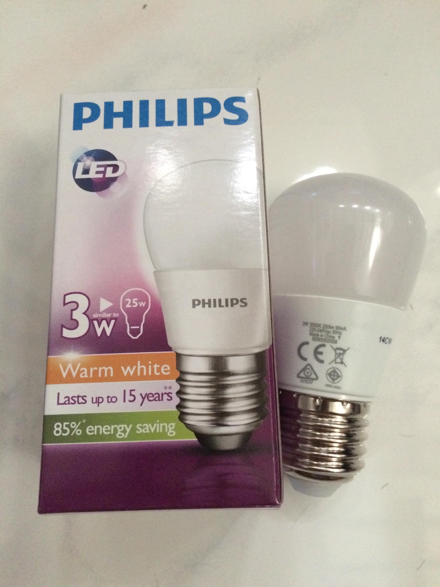 Jual Lampu PHILIPS LED BULB 3 Watt WarmWhite Kuning