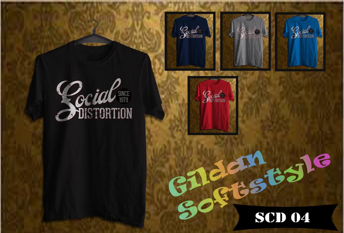 Kaos Gildan Softstyle Social Distrortion 04