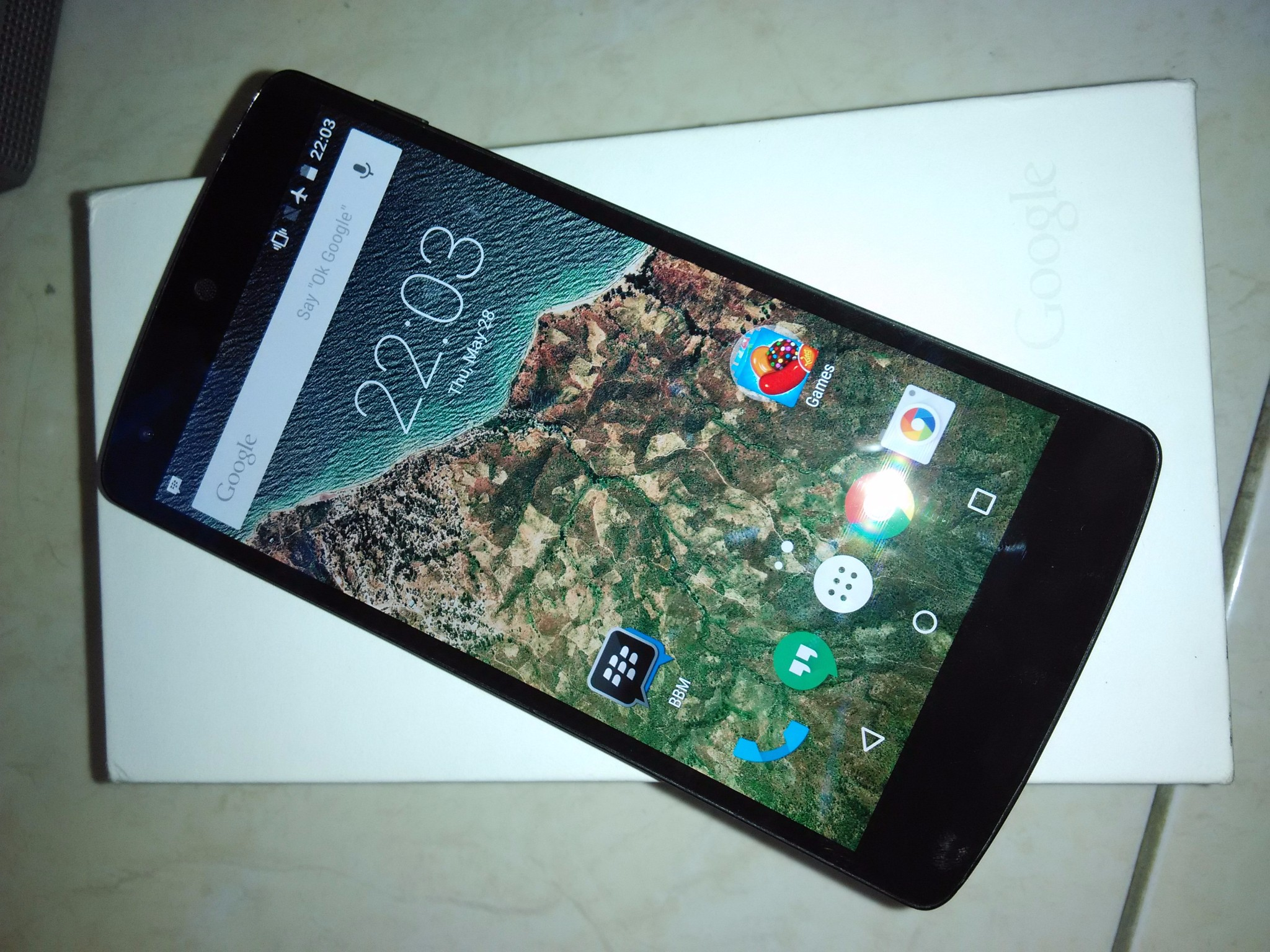 Black LG Nexus 5 Fullset