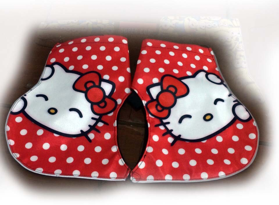 Harga sarung tangan anti panas tempel stang motor SUPERCOOL Hello Kitty Red