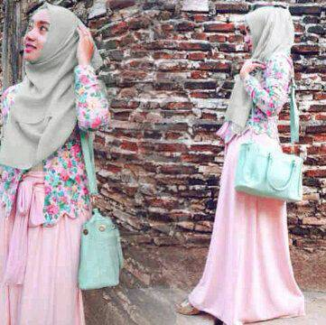 sofie 4 in1 hijab pink
