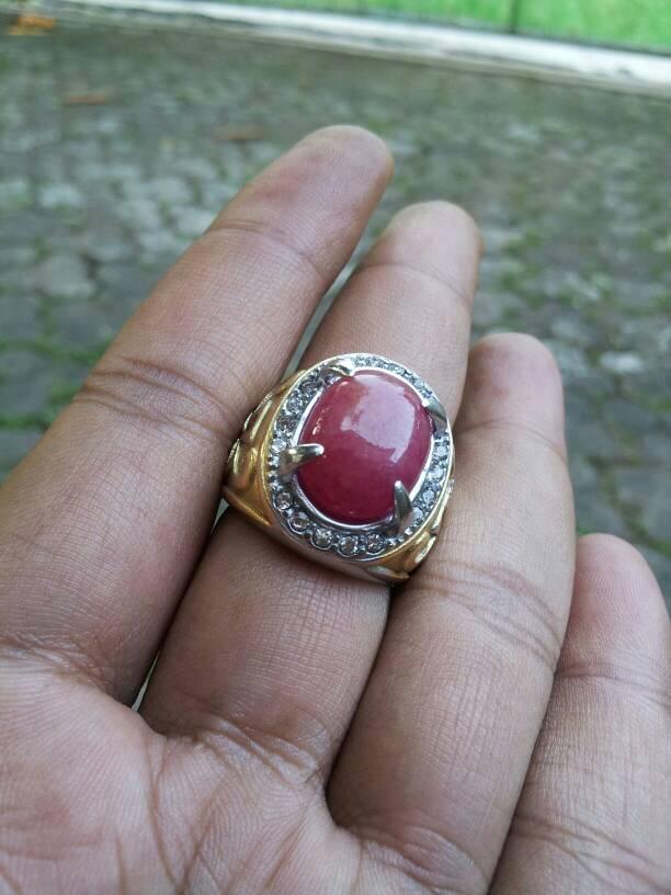 batu cincin natural ruby madagaskar