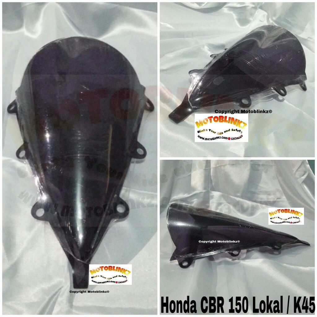 Harga Windshield / Visor Jenong Smoke / Bening Honda CBR 150R Lokal / K45