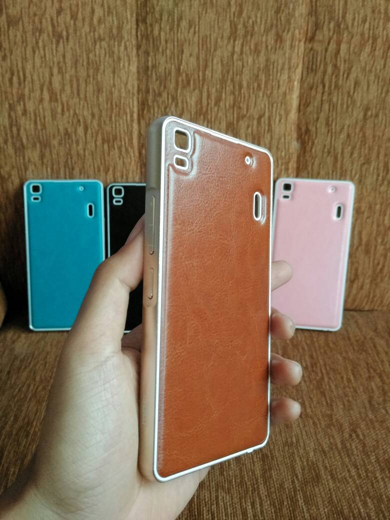 Jual Lenovo A7000 K3 Note Mofi Aluminium Bumper Leather