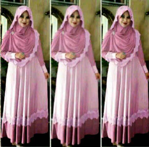 hijab roses maxi