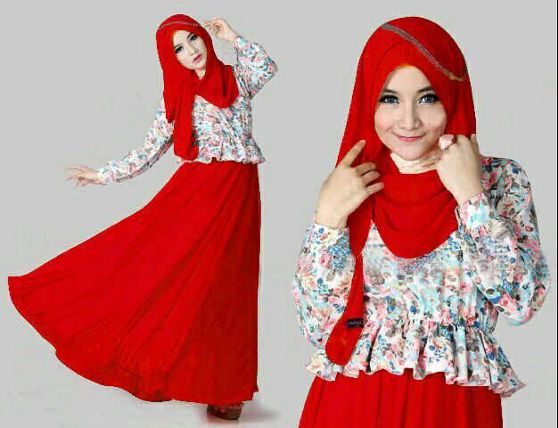 Hijab liena merah stp220674