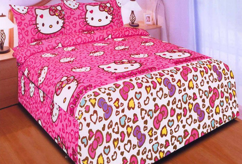 bed cover hello kitty