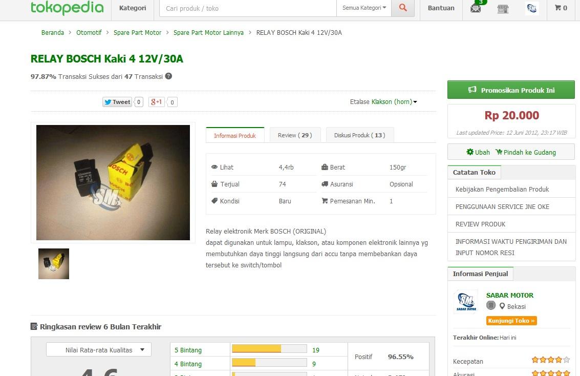 Harga Relay 5 Kaki Boschjual Bosch Ampere Di Lapak 12 Volt 8 Jual 4 12v 30a Sabar Motor Tokopedia