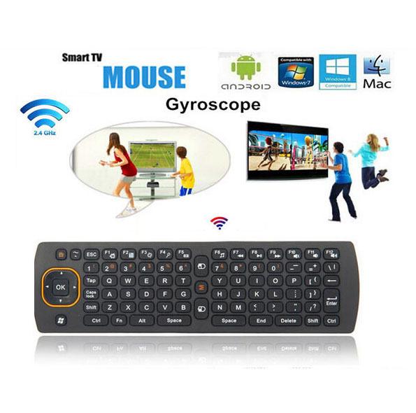 jual mini wireless keyboard mouse remote gyro 3d