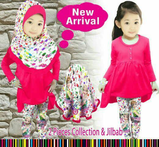 Stelan hijab pink fanta