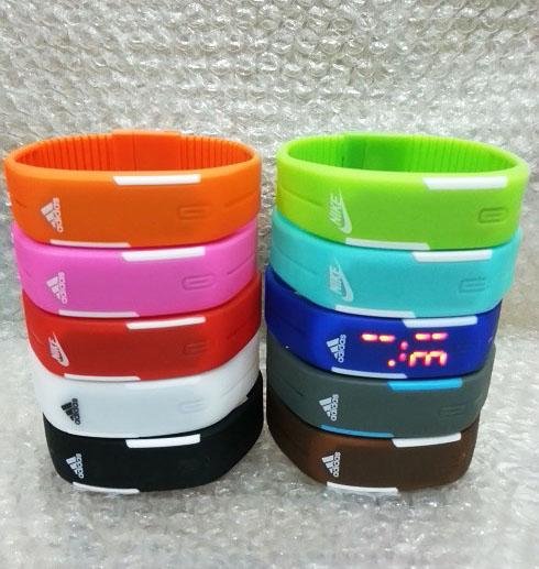Jual Jam Tangan Gelang LED Adidas Nike Puma Sporty Digital