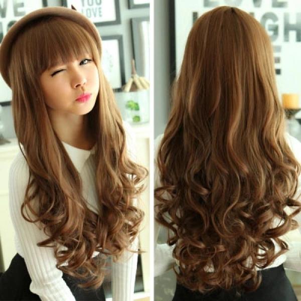 Harga Wig / Rambut Palsu Panjang Curly + Poni - Ho4234