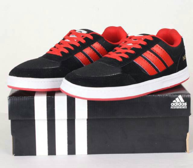 adidas neo black and red